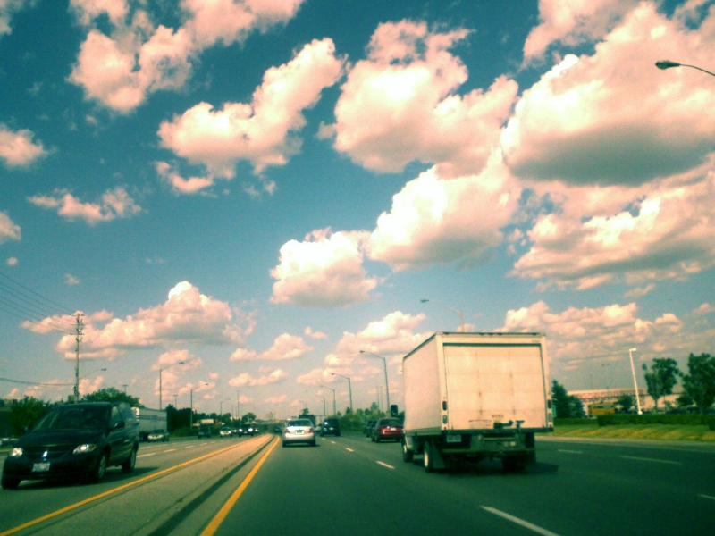 """Cloud Filled Sunny Skies"" - World Photography Day Aug 19, 2011 
