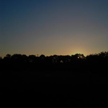 and saw a sunrise