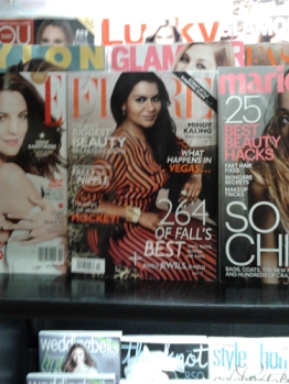 and then 'ran into' Mindy Kaling.