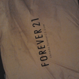 Received a package from Forever21
