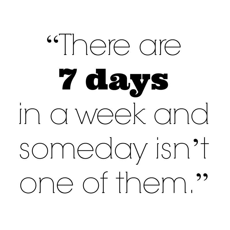 There are 7 days quote